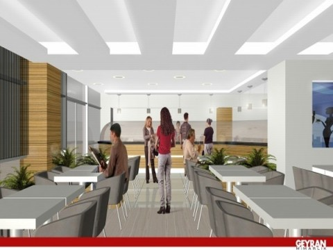 Ticaret yapıları, Restaurant mimarisi, restaurant tasarımı, kafeterya tasarımı, ticaret yapıları tasarımı, kenan geyran, mimar, mimari proje, geyran mimarlık